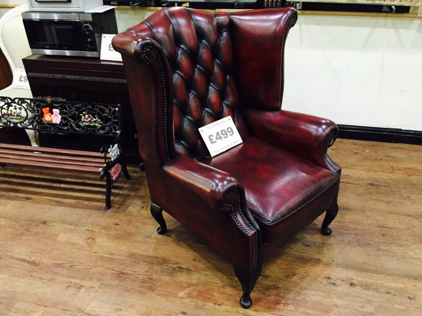 Chesterfield Queen Anne High Back Wing Chair