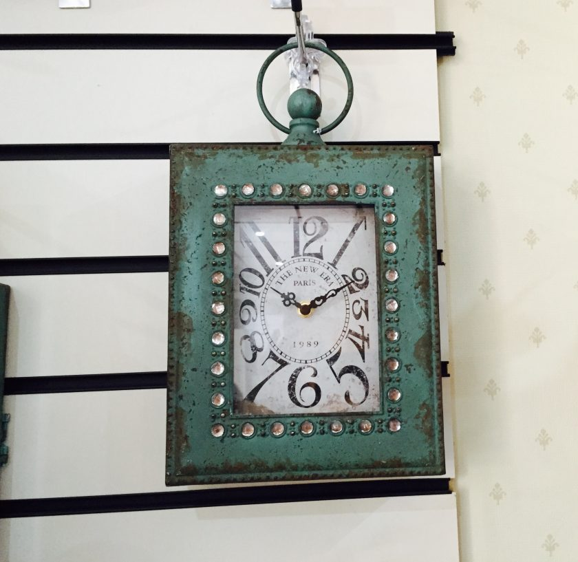 Jewelled Green Clock