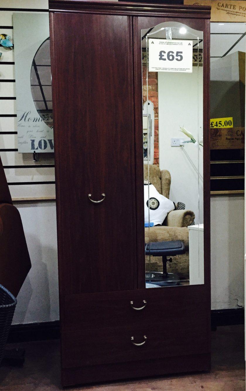 Mahogany single wardrobe in very good condition