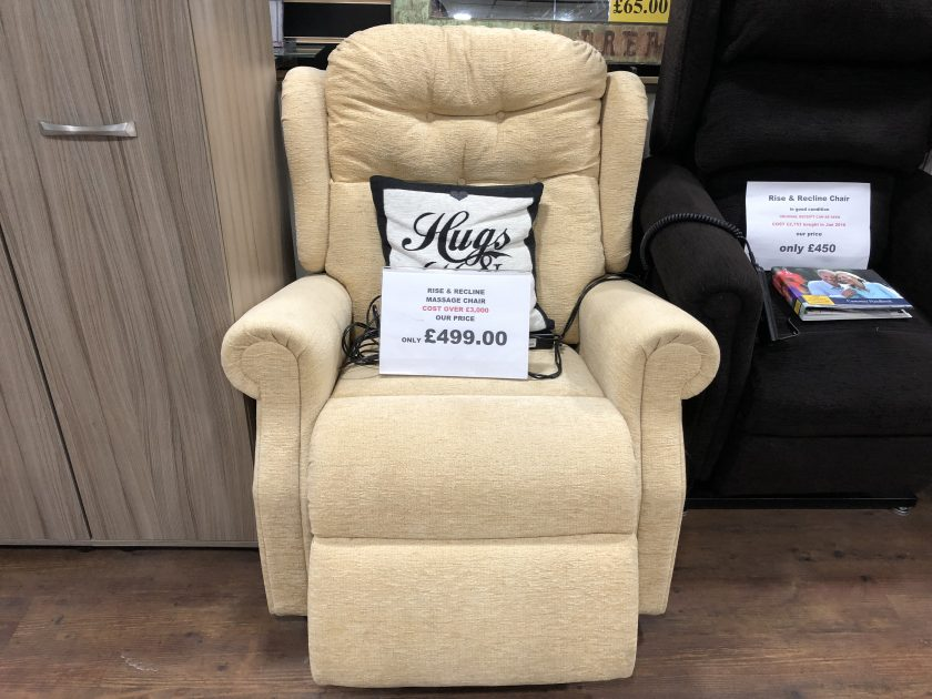 rise & recliner and assage chair in very good condition