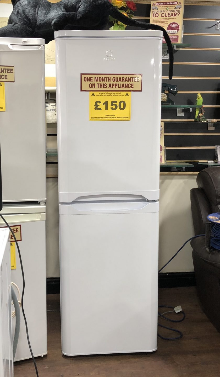 Indesit fridge freezer one month guarantee on this appliance